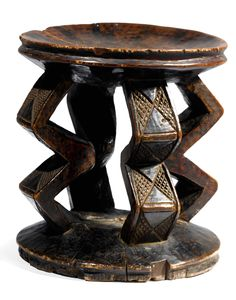 Africa | Stool from the Shila-Zela people of DR Congo | Wood | ca. 1953 or earlier.