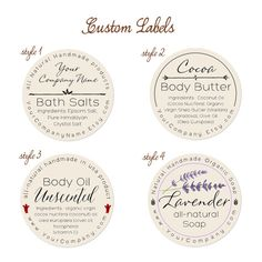 Predesigned Personalized Labels  Round labels  60-pk by Artision