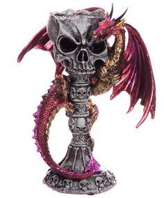 Figura Dragón y Calavera  #decoracion #decor #gotico #rock #metal #skull #halloween #gothic #xtremonline
