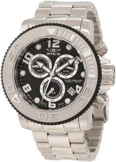 Invicta Men's 12400 Sea Hunter Chronograph Black Dial Watch