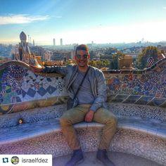 #Repost @israelfdez Barcelona was a success!  #parkgüell #picoftheday #traveling #travelphotography #barcelona #travelgram #gaudi #Ispyapi #studyabroad #apiabroad