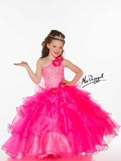 Pageant Dresses for little girls featuring award winning looks. These super cute dresses will thrill your daughter and help her to exude poise and confidence. Pagent Dresses, Little Girl Pageant Dresses, Cute Little Girl Dresses, Cheap Flower Girl Dresses, Hot Pink Dresses, Gowns For Girls, Unique Prom Dresses, Prom Party Dresses, Girls Dresses