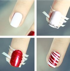 Christmas nail polish idea, plus it can be done with any colors