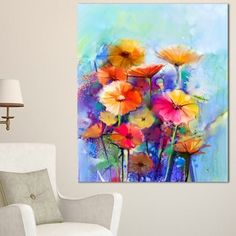 Shop for Designart 'Abstract Floral Watercolor Painting' Modern Floral Wall Art Canvas. Ships To Canada at Overstock.ca - Your Online Art Gallery Store!  - 19900516