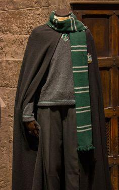A boy's Slytherin school uniform with scarf.
