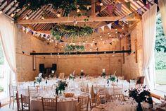 Barn Festoon Lighting Decor Rustic Home Made Farm Wedding http://blondiephotography.co.uk/