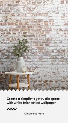 Looking for a brick wallpaper with a cool and refreshing edge? Then look no further than our white brick wallpaper murals. Understated in design yet packing a punch in your interior, our collec Brick Wallpaper Living Room, Brick Wallpaper Bedroom, Brick Wall Bedroom, Brick Effect Wallpaper, Look Wallpaper, Wallpaper Murals, Brick Wallpaper For Kitchen, Brick Wallpaper Interior, Brick Wallpaper Office