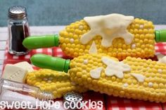 Sweet Buttered Corn Cookies