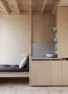 Timber-framed cabin