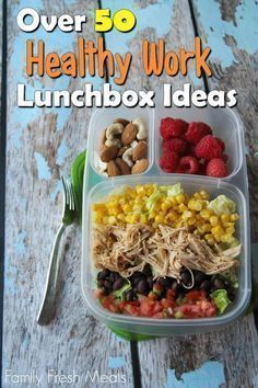 Over 50 Healthy Work Lunchbox Ideas fresh and healthy ideas for work lunches packed to go. fresh and healthy ideas for work lunches packed to go. Lunch To Go, Lunch Meal Prep, Healthy Meal Prep, Healthy Drinks, Healthy Snacks, Healthy Eating, Healthy Recipes, Lunch Box, Bento Box