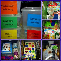 Busy boxes for 4yo quiet time