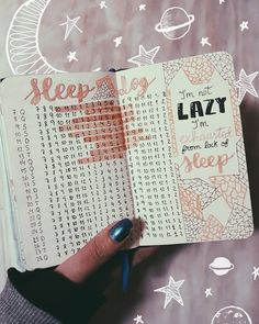 "Bulletjournal ideas, sleep log Joana M. Gabriel |Bujo & Books (@joanamgabriel) no Instagram: ""I'm not lazy. I'm exhausted from lack of sleep · · · · · #bulletjournal #bujo #bulletjournaling…"""