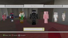 Minecraft (Xbox 360 Version) | Character Skin Pack 2 | Skin pack 2 is available now for the xbox 360 version of Minecraft.. It features 45 new character skins for 160 MSP.