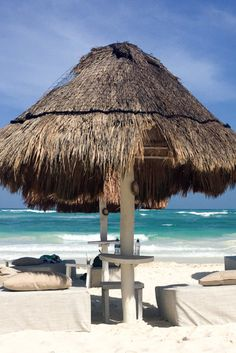 Spend a lazy day on the beach - one of the best things to do in Tulum, Mexico