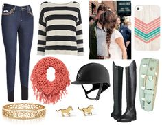 I would wear this but minus the scarf and jewelry (a little fancy for the barn)