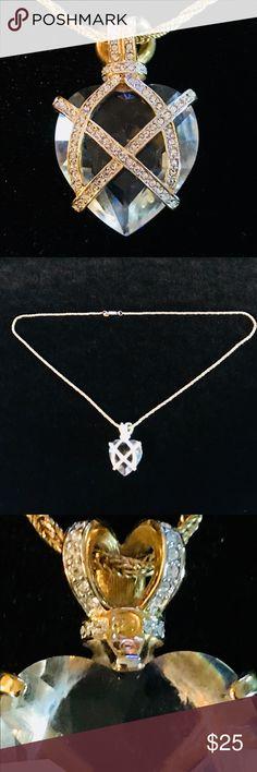 "Swarovski Crystal Necklace Authentic Swarovski Crystal Necklace. This necklace is 20"" long. One big beautiful crystal (silver crystal) surrounded by many smaller ones. Swarovski Jewelry Necklaces"