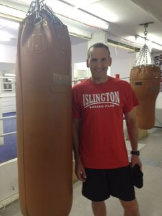 Christopher Eccleston - Oh, you know, just hanging out at a boxing club. Why is he not wearing a leather jacket. I can't deal with this.