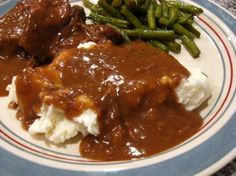Beef Gravy Recipe - Food.com - 187128 I used beef broth to boil my potatoes for au gratin, then reused it to make my gravy with some of the dripping from the meatloaf. So yummy!