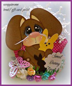 Craftecafe Scrapbook Premade Handmade Easter Gift Card Treat Holder | eBay