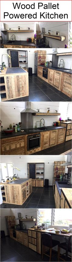 Wood Pallet Powered Kitchen | Wood Pallet Furniture #palletfurniturekitchen