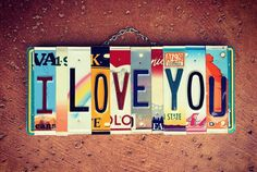 License Plate Crafts, License Plate Art, Handmade Anniversary Gifts, Gifts For Surfers, Sewing Room Decor, Personalized Gifts For Dad, Cute Signs, Inspirational Signs, Travel Gifts