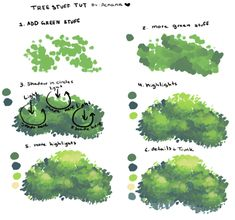acnana Tree Stuff Tut as requested I didnt include the trunk since I havent really perfected or like the way I draw them too much Hope this is helpful though Digital Painting Tutorials, Digital Art Tutorial, Painting Tips, Art Tutorials, Digital Paintings, Drawing Tutorials, Drawing Techniques, Drawing Tips, Drawing Drawing
