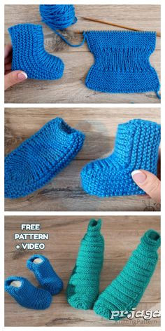 Knit One-Piece Stretchy Baby Booties Free Knitting Pattern + Video Baby-Strickanleitung Knit One-Piece Stretchy Baby Booties Free Knitting Pattern + Video Baby Booties Knitting Pattern, Crochet Baby Shoes, Crochet Baby Booties, Baby Knitting Patterns, Knitting Socks, Baby Patterns, Free Knitting, Kids Crochet, Finger Knitting