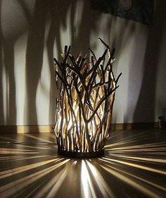 WOOD ANAPAZ – visual artist-painter, a pattern designer and craft worker - Home Decoraiton Driftwood Lamp, Driftwood Crafts, Wooden Crafts, Diy Crafts For Home Decor, Into The Woods, Wooden Lamp, Diy Furniture, Interior Decorating, Room Decor