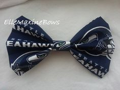 Seattle Seahawks NFL hair bow with alligator by ElleMaxineBows