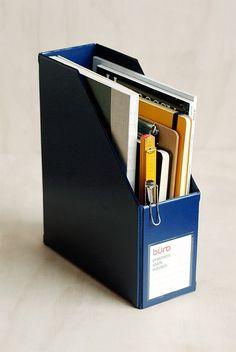 Buy Delfonics - 'Buro' Magazine File - Dark Blue - NoteMaker Stationery. NoteMaker.com.au