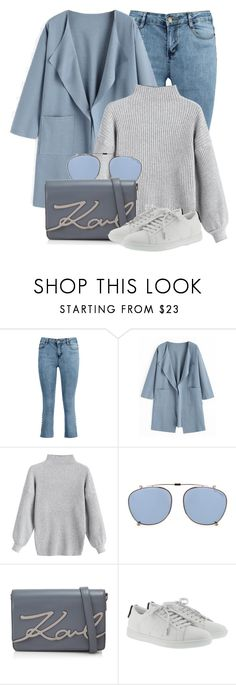 """13:30"" by monmondefou ❤ liked on Polyvore featuring Tom Ford, Karl Lagerfeld, Yves Saint Laurent, Blue and gray"