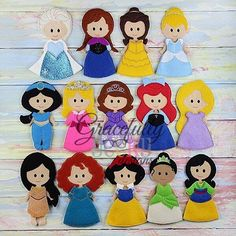 Princess Dress up Doll SET of 17- Embroidery Design 5x7 hoop or larger