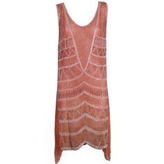 Pre-owned 1920s Peach Beaded Cotton Party Dress $3,000 offered by The Way We Wore