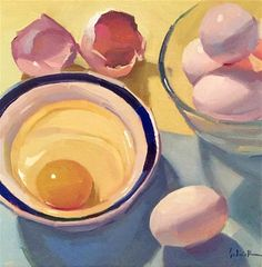 "Daily Paintworks - ""A New Series: Limited Palette Eggs"" - Original Fine Art for Sale - © Sarah Sedwick Painting Still Life, Still Life Art, Art Sketches, Art Drawings, Modern Art, Contemporary Art, Guache, Art Studies, Fine Art Gallery"