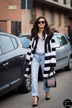 Milan Men's FW15 Street Style: Eleonora Carisi