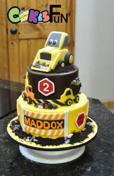 Construction Cake With Bulldozer