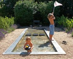 Cool down pool.  Love this idea.  The kids would too. :)