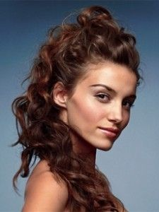 Formal Hairstyle-Long Brown Curly Hair - All For Bridal Hair Half Braided Hairstyles, Prom Hairstyles For Long Hair, Wedding Hairstyles For Long Hair, Winter Hairstyles, Formal Hairstyles, Pageant Hairstyles, Bridesmaid Hairstyles, Celebrity Hairstyles, Girl Hairstyles
