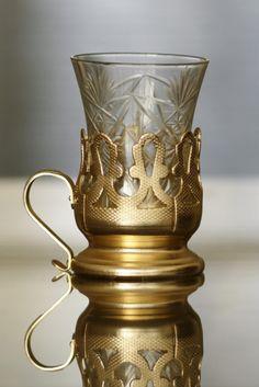 "SET OF VINTAGE TEA GLASS HOLDERS ""PODSKANNIK"" 6pcs, original cut glass, marked. Made in Russia in 1960s, 80 EUR Glass Holders, Antiques For Sale, Vintage Tea, Cut Glass, 1960s, Russia, Vase, The Originals, Home Decor"