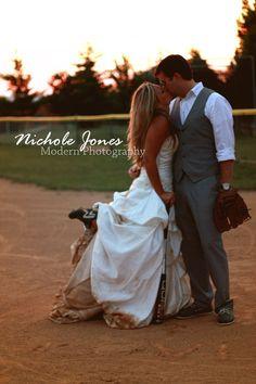 trash the dress softball!!! love this!