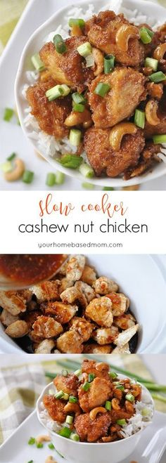 Slow Cooker Cashew Nut Chicken - so delicious, it's better than your favorite take out!