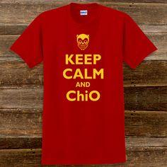Keep Calm and Chi Omega Sorority T-Shirts #Greek #sorority #ChiOmega #ChiO #clothing