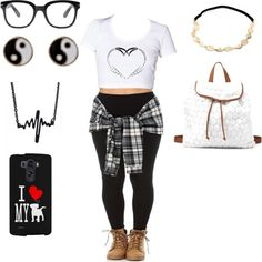 black & white by angelaharlan16 on Polyvore featuring polyvore fashion style Charlotte Russe Accessorize Forever 21