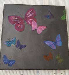 Flying butterflies #mixedmedia #art #butterfly #painting #canvas