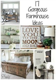 Gorgeous Farmhouse Projects 17 Gorgeous Farmhouse Projects - DIY ideas for furniture, crafts and more! Get the farmhouse Gorgeous Farmhouse Projects - DIY ideas for furniture, crafts and more! Get the farmhouse look. Country Farmhouse Decor, Farmhouse Furniture, Farmhouse Design, Rustic Decor, Farmhouse Style, Cottage Farmhouse, Modern Farmhouse, Farmhouse Ideas, Rustic Charm