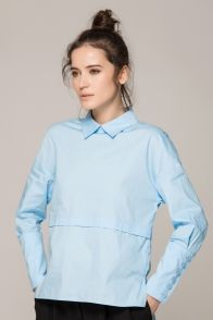 Blue pullover shirt Item# : WZ528   In Stock $37.00