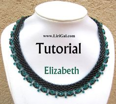 Elizabeth SuperDuo Beadwork Necklace PDF Tutorial par Lirigal