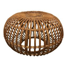 For Sale on - We present a charming woven rattan pouf by Franco Albini attr. The rattan pouf is very stable, although it looks like lightweight. Rattan Ottoman, Rattan Stool, Ottomans, Ottoman Stool, Cool Furniture, Modern Furniture, Wicker Furniture, Modern Ottoman, Modern Stools