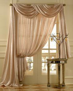 Seek an Idea: Tuesday Tour: Window Treatments Scarf Curtains, Home Curtains, Window Scarf, Sheer Curtains, Country Curtains, Window Curtains, Curtains Drawn, Layered Curtains, Brown Curtains