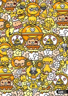 #kawaii #yellow by Garbi KW #GKW #art